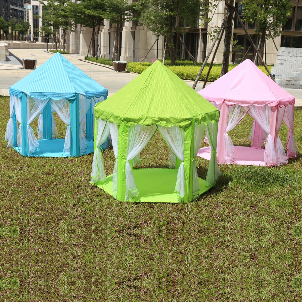 porttil al aire libre tienda del juego toy baby play game house kids princess prince castle