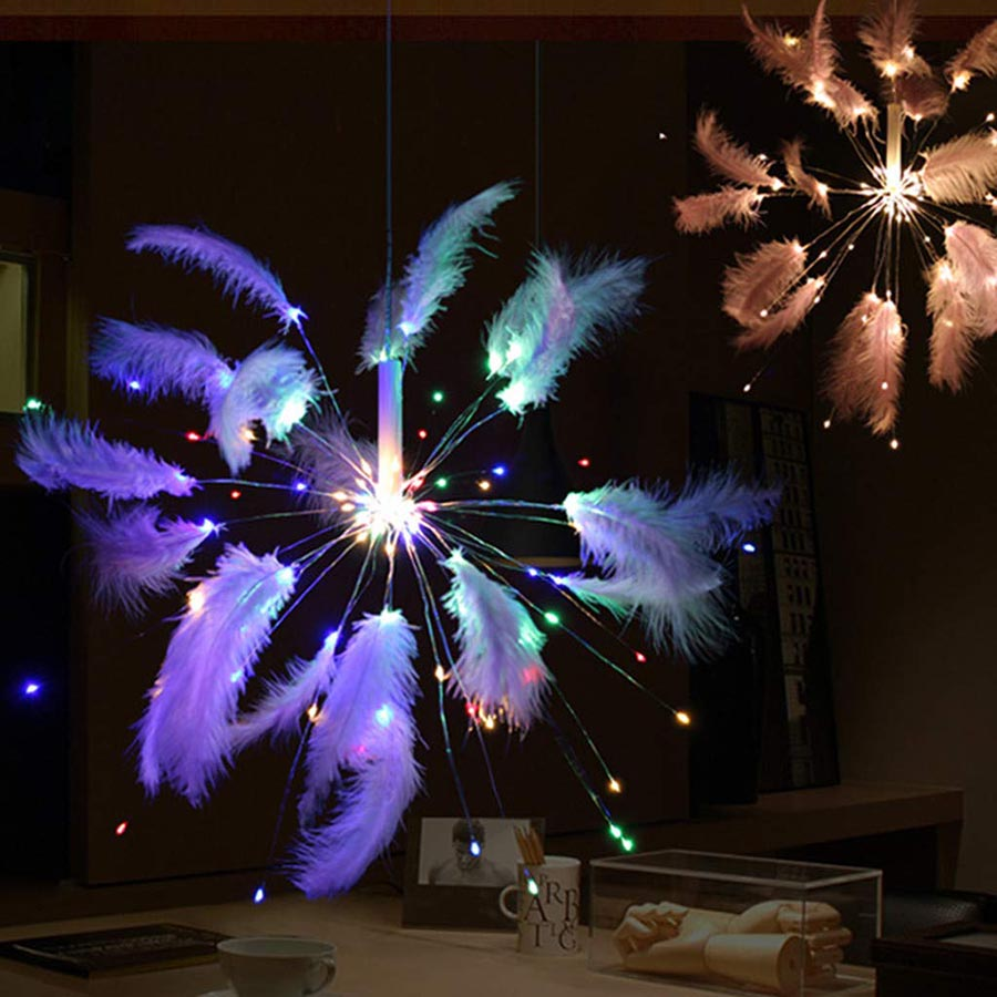 Disco Light Fireworks LED Party Lights For Home/Party/Wedding Decor White/Colorful Lights Remote Control Battery/USB Powered