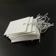 38*30mm Wholesale White Jewelry Label Price Tags Elastic Pre-Strung Display 1000pcs 36348