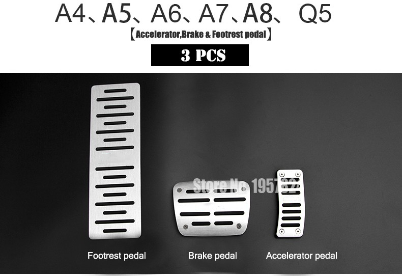 DEE Original design Aerospace Aluminum alloy Car brake accelerator pedal for AUDI A4 A5 A7 A8 Q5 Q3 Q7 A3 A6 TT Pedals pad Cover 2pieces set hella car horn snail type for audi a1 a3 a4 a6 a7 a8 q3 q5 q7 r8 tt tc16s
