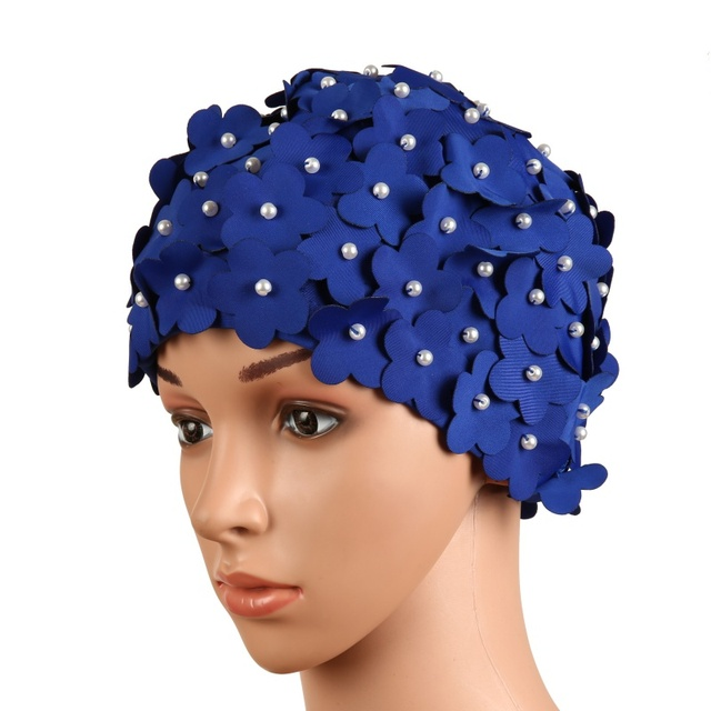 a12e50af284 Best Offers Women Swim Pool Beach Swimming Cap Attractive Hat Free Size For  Women Petals Bathing