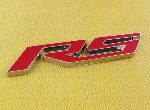 Auto car Chrome Red RS for 10-15 Camaro Cruze RS Trunk Rear Emblem Badge Sticker chrome c180 letters for c 180 c class trunk emblem badge sticker