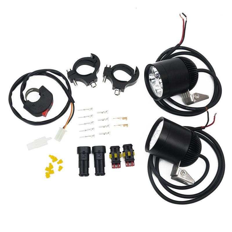 ФОТО  1set Motor bike dirt  LED Work Spot Light 20W 2400 Lumen 4*Cree LED Chip R5LED Motorcycle Driving Light 12V-16VDC