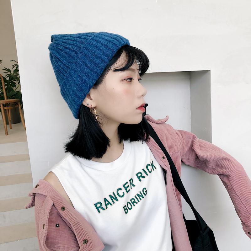 2019 New Winter Hats For Women Men Skullies Beanies Women Fashion Warm Cap Unisex Elasticity Knit Beanie Hats High Quality in Men 39 s Skullies amp Beanies from Apparel Accessories