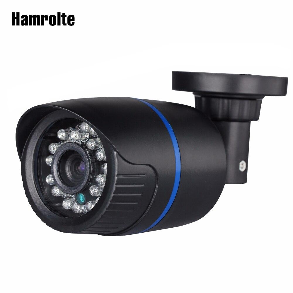 Hamrolte ONVIF cámara IP 2,8mm lente de ángulo ancho 1080 P al aire libre visión nocturna vigilancia cámara IP detección de movimiento de acceso remoto