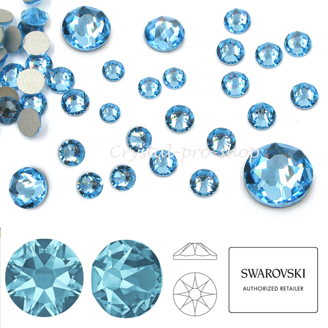 New 2019 20 Aquamarine (202) Swarovski Elements ss14 ( 3.5 3.6 )mm ... 5d83c653c57a