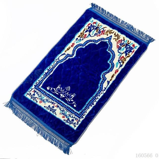Nuovo Disegno Unico Ciniglia di Spessore Da Viaggio Islamico di Preghiera Zerbino/Tappetini/tappeto per Culto Salat Musallah Preghiera Tappetini Pregare zerbino 75*120 centimetri