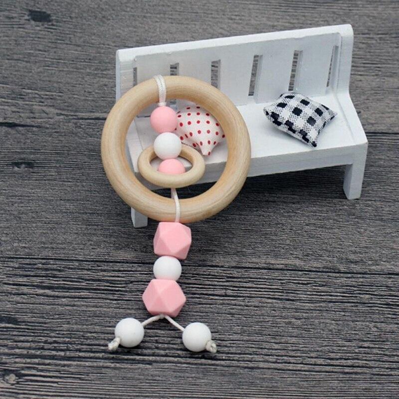 Baby Play Gym Kan Chew Beuken Baby Tandjes Kralen Silicone Douche Gift Bed Speelgoed Kind Bijtring Baby Rammelaars Hout