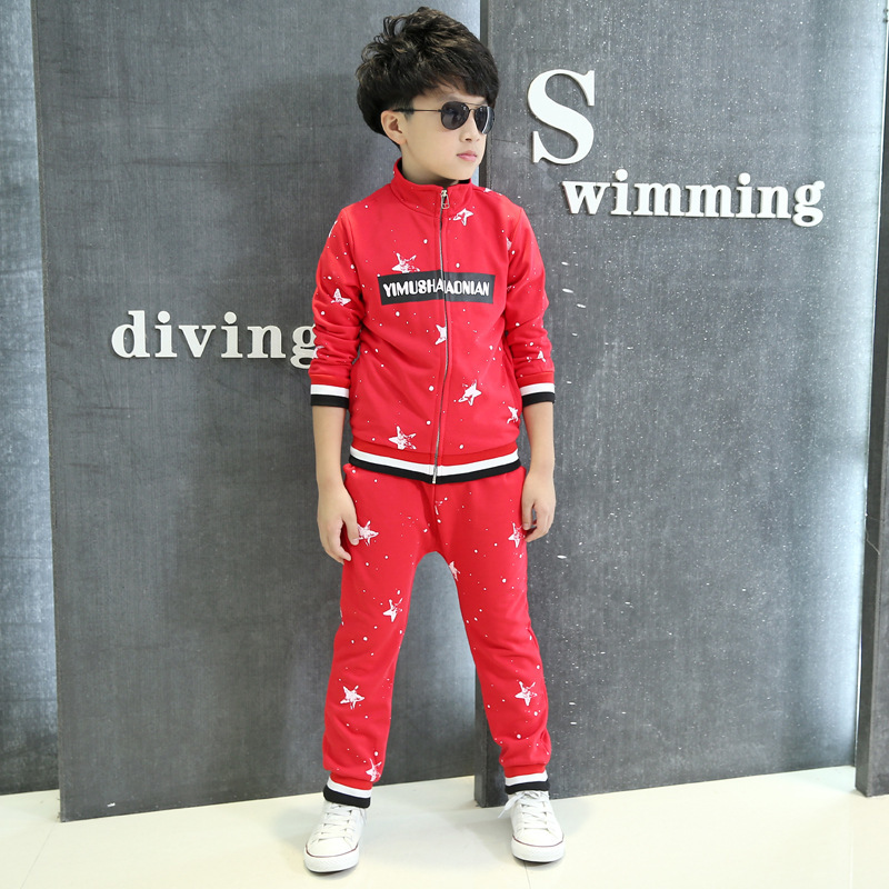 Children's Garment Catamite Autumn Suit Child Children Spring And Autumn Athletic Wear Two Pieces Kids Clothing Sets children s garment girl new pattern clothing children spring autumn autumn two pieces kids clothing sets suit