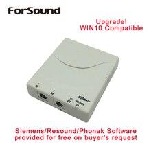 Promoção! aparelho auditivo digital programador mini pro usb, compatível com todos os aparelhos auditivos, funciona como hipro usb
