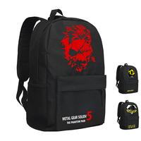 MeanCat Metal Gear Solid V 5 The Phantom Pain Backpack Travel Diamond Dogs Metal Gear Fox Mochila