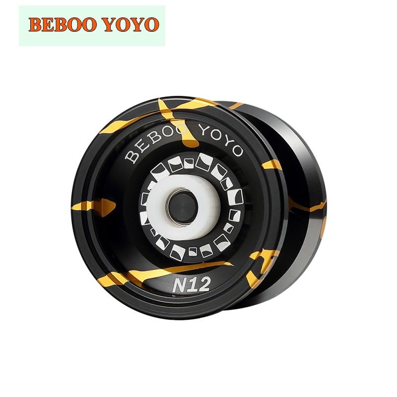 BEBOO YOYO Professional Yoyo N12 metal alloy Aluminum Yo-yo begleri 1A 3A 5A Play Yoyo Classic Toy Diabolo Gift Present ladybug