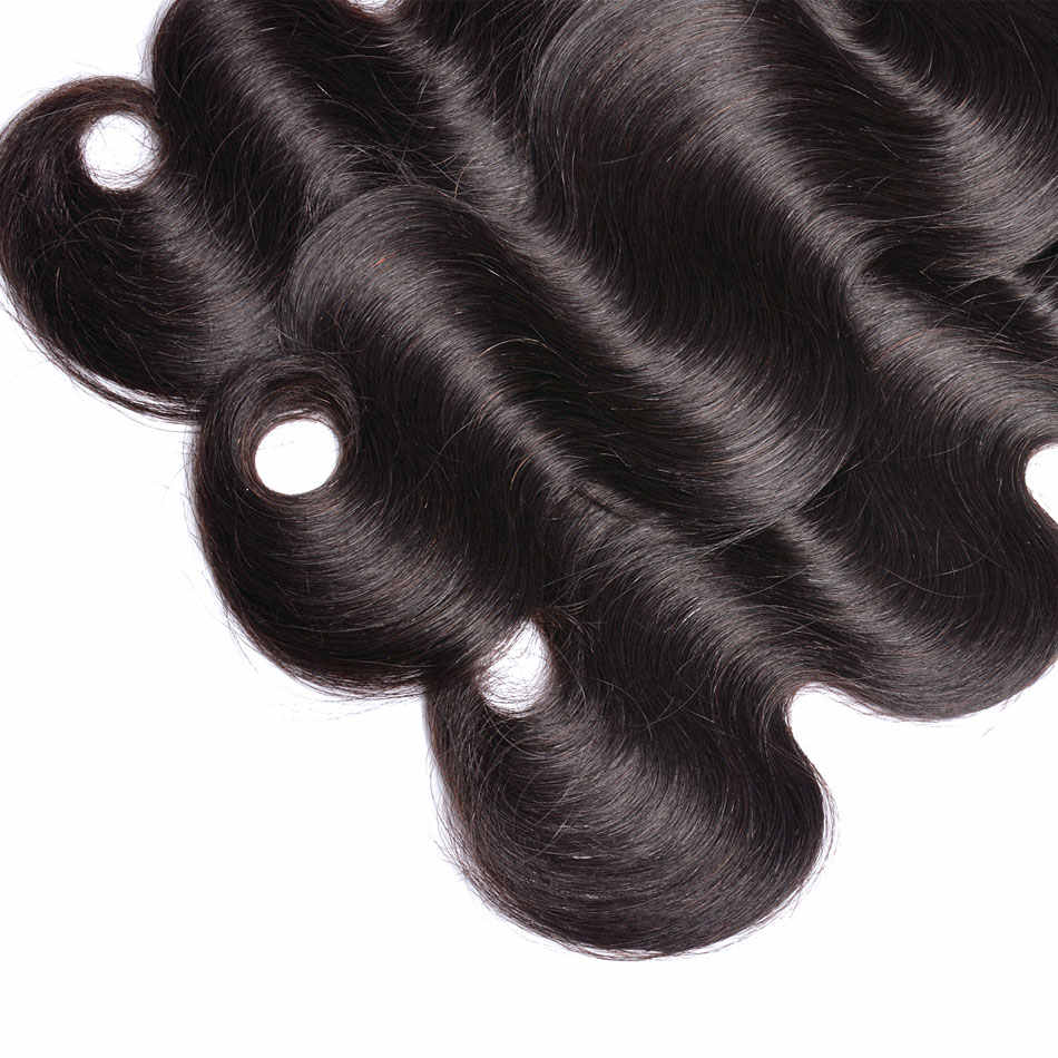 Индийские тела волновые пучки волос 1/3/4 шт. натуральный черный 100% человеческих волос Связки GEM Красота не волосы remy ткань расширения # 1B