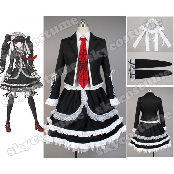 Hot Anime Danganronpa Celestia Ludenberg Cosplay Costume Dress Adult Women Celastia Ludenberg Uniform Custom Made Full Set