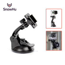 SnowHu for Go Pro Accessories 7cm Car Mount Windshield Suction Cup Gopro Hero 7 6 5 4  SJCAM Xiaomi Yi GP17