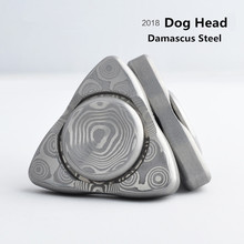NEW 2018 3 Styles Good Luck Dog Head Hand Spinner Stainless Steel Metal Fidget Spinner For Autism And ADHD HandSpinner