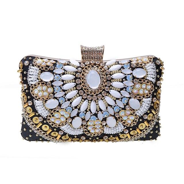 b48511cb79 Luxury Fashion Strass Clutch Da Sera Delle Donne Borsa Del Diamante di Modo  Pochette di Paillettes