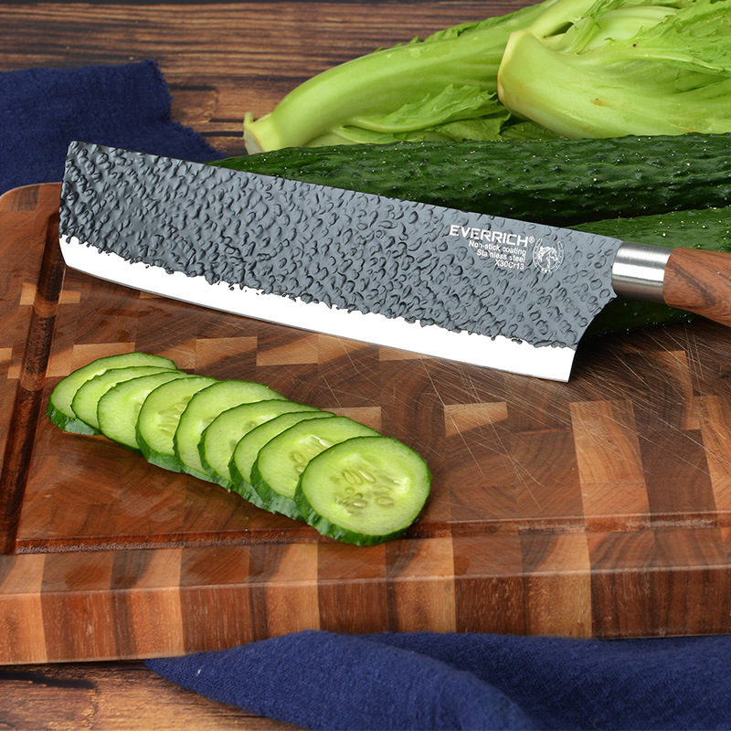 SHUOJI Best Kitchen Knives Set 6 PCS Forged Kitchen Knife With Scissors&Ceramic Peeler Chef Slicer Nakiri Paring Knife Gift Case 3