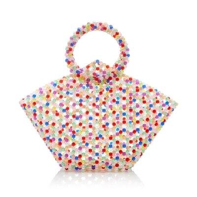 Design de luxe cerise perlée sac à la main tissé sac pour femmes sac casual mignon petit sac fourre-tout rétro dame sac à main Pet paquet perle