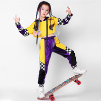 Kid Hip Hop Clothing Clothes Jazz Dance Costume Set Girl Casual T shirt Top Leggings Pants Ballroom Dancing Street wear Outfits