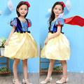 "2016 girls short-sleeved high-necked silk lace princess dress performance dress ""Snow White"" Dress with cloak"