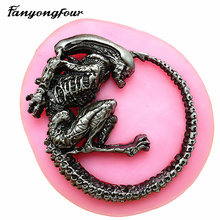 Cake-Mould Baking-Tools Alien Skull Monster Silicone Pastry