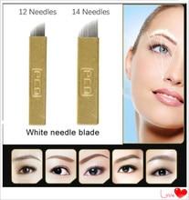 5 Pcs PCD 12 Pin Permanent Makeup Eyebrow Tatoo Blade Microblading Needles For 3D Embroidery Manual Tattoo Pen Machine