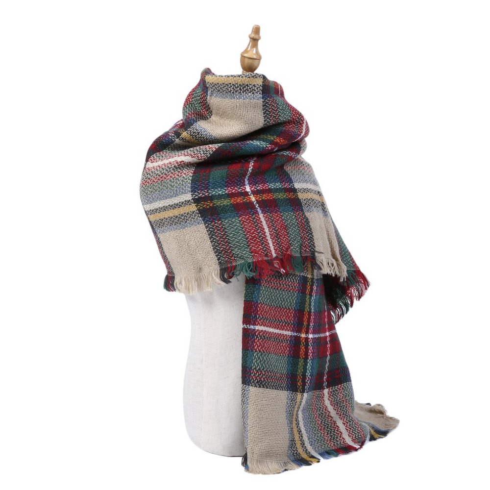 Fashionable Design Winter Women Oversized Blanket Tartan   Scarf     Wrap   Shawl Plaid Cozy Faux Cashmere Keep Warm Shawls and   Scarves