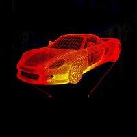 LED Car 3D Lamp 7 Color Changing LED Luminaria Night Light 3D Illusion Lamp Light Bedroom