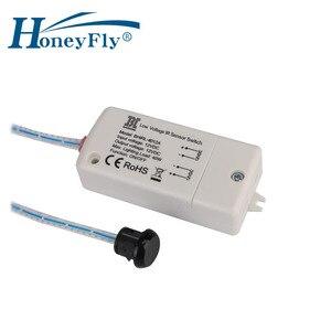 Image 2 - HoneyFly 2pcs NEW LED DC12V IR Sensor Switch 40W Infrared Light Switch For LED Lamps LED Strips Motion Sensor Hand Wave 5 8CM CE