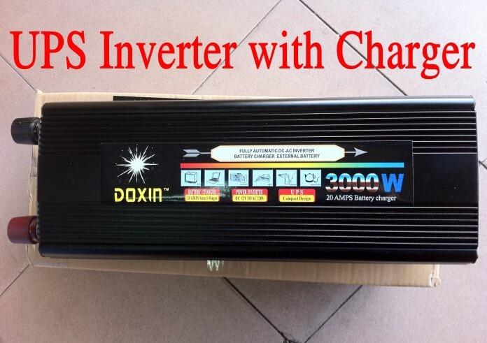 12V/24V to 220V 3000W inverter with charger 20A ,UPS power converter