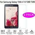 2pcs/lot Real Tempered Glass Screen Protector Guard Film For Samsung Galaxy Tab A 7.0 T280 T285 7 inch Tablet Hardness