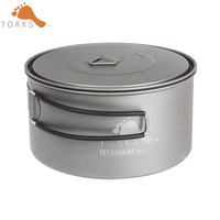 TOAKS Outdoor Titanium 900ml Pot Camping Cooking Pots Picnic Ultralight Titanium Pot With Cover And Handle