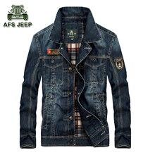 Herren Jeans Jacken AFS JEEP Homme Casual Jeansjacke Männer Frühling Herbst Jacken Und Mäntel Modemarke Kleidung Für Mann