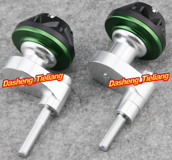 For Yamaha 2008-2012 YZF R6 Motorcycle Frame Sliders Protector Crash 08-12 GREEN Color, Spare Parts Supplies