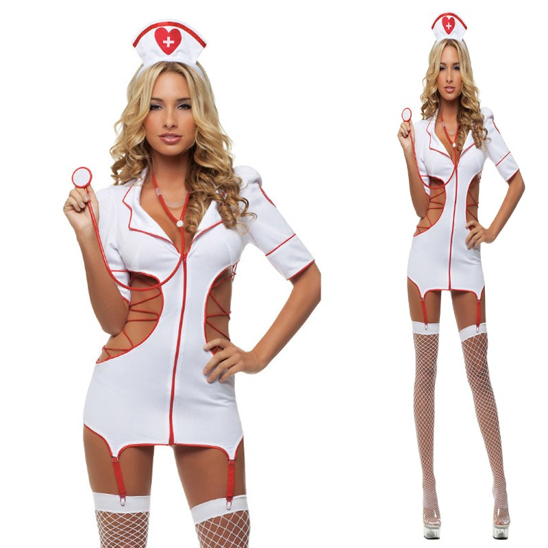 2019 Women <font><b>Sexy</b></font> Nurse <font><b>Costume</b></font> Hot Erotic Underwear Role Play Games Women Erotic <font><b>Lingerie</b></font> Female <font><b>Sexy</b></font> Underwear lenceria Uniform image