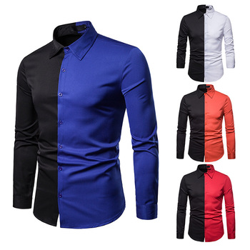 Men High Quality Long Sleeve Casual Color Slim Fit Dress Shirt