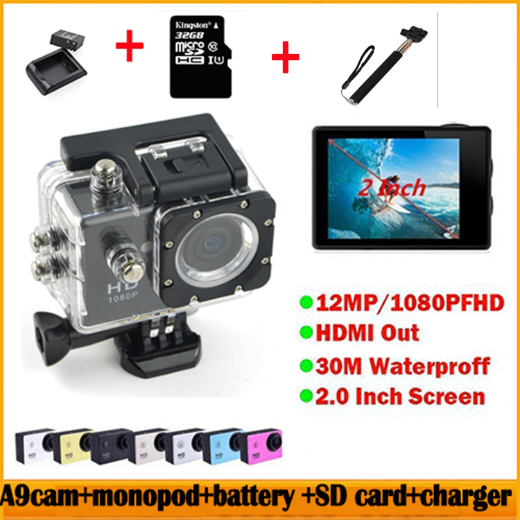 sj4000 gopro style sports dv a9 action camera 1080p hd 30m waterproof sport camcorder battery. Black Bedroom Furniture Sets. Home Design Ideas