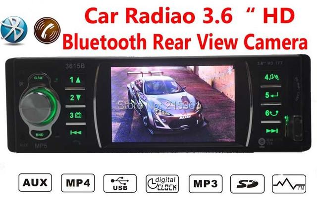 """Jogador de Rádio do carro, 3.6 """"HD MP5/FM/USB 1 Din/controle remoto/USB port 12 V Áudio Do Carro Auto Steoro Car MP3, bluetooth"""