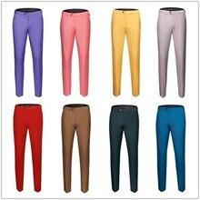 PYJTRL Для мужчин s Однотонная одежда Бизнес оккупации Slim Fit платье офисные брюки мужская одежда брюки для официального костюма Повседневное для Для мужчин