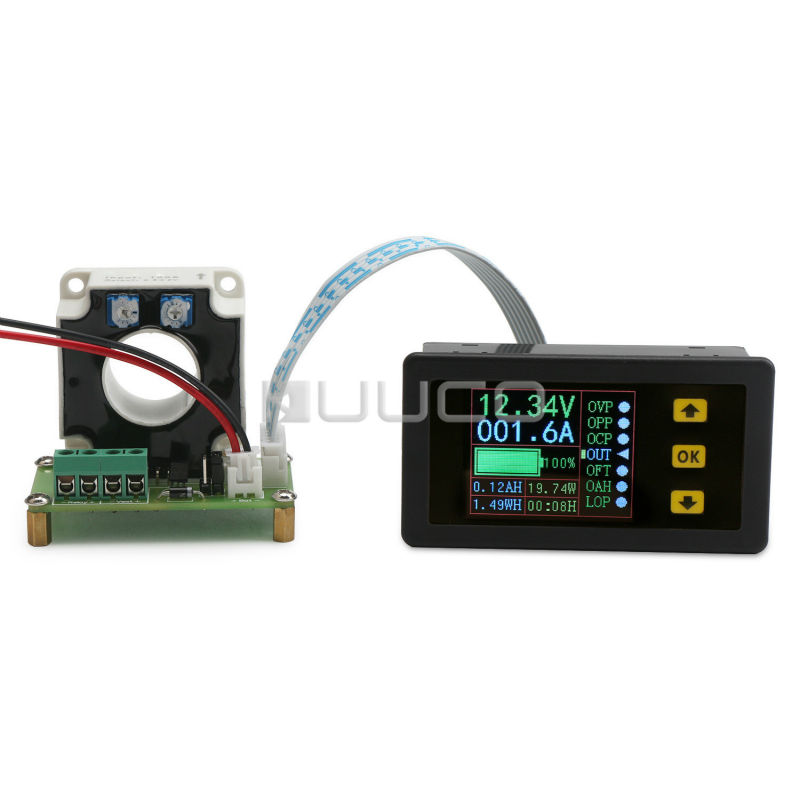 Digital Tester DC 10~90 V/100A Multifunction Voltage/Current/Capacity/Power/Coulometry/Time Display Panel Meter Monitor Meter цена