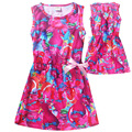 2017 New Children's Dress Kids Trolls Dress Trolls clothing for 6-10Y Magic spring high-end european girls party dress  H479