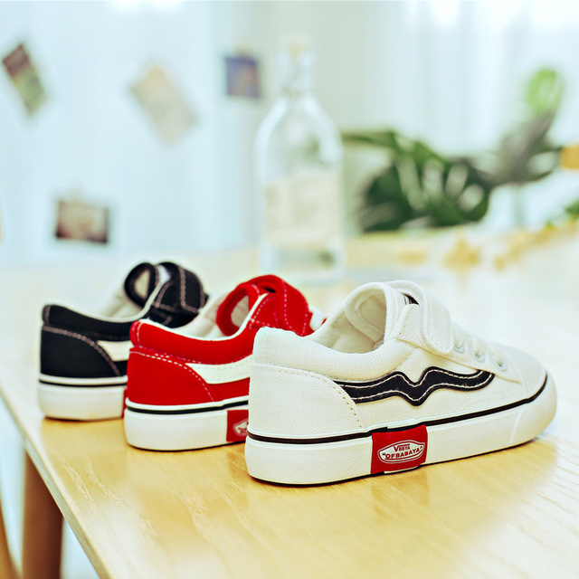 2018 Autumn New Children Canvas Shoes Girls Sneakers Breathable Spring Fashion Kids Shoes For Boys Casual Shoes Student
