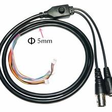 CCTV Камера 11-core видео кабель постоянного тока Вход+ BNC выход+ экранное меню кнопка для видеонаблюдения Камера(6pin 1,25 мм+ 3pin 1,5 мм+ 2pin 2,0 мм
