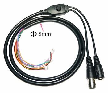 KAMERA TELEWIZJI PRZEMYSŁOWEJ 11-core wideo kabel DC wejście + wyjścia BNC + OSD przycisk Menu na KAMERA TELEWIZJI PRZEMYSŁOWEJ (6pin 1 25mm + 3pin 1 5mm + 2pin 2 0mm) tanie i dobre opinie Nosferatu CN (pochodzenie) VIDEO-11
