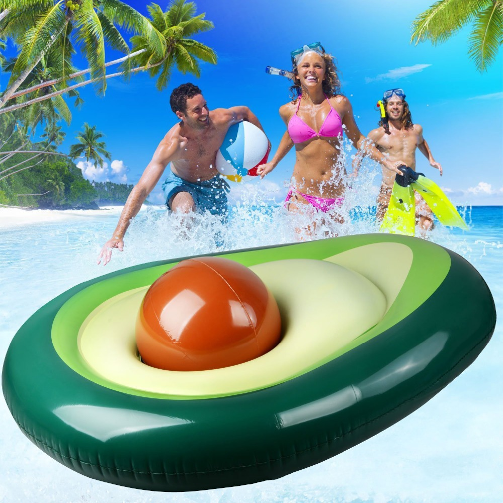 Rooxin 160cm Avocado Pool Float Inflatable Circle Swimming Ring For Adult Inflatable Mattress Swimming Pool Party Toys With Ball