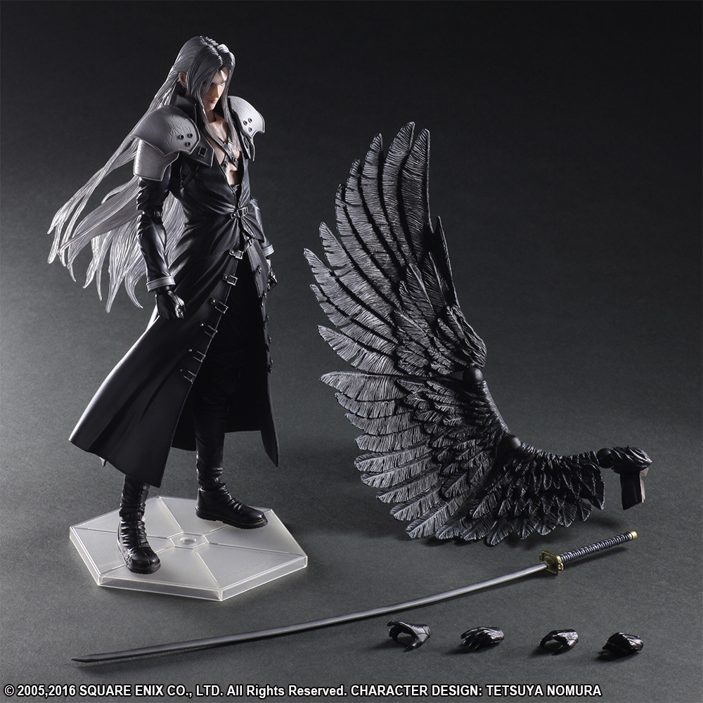 QICSYXJ High Quality Birthday Gift Supply FF Action Figure Collection 25cm PA Sephiroth Movable Model Decorations qicsyxj high quality birthday gift supply 26cm pa joker batman action figure dc super hero joker cosplay batman model doll
