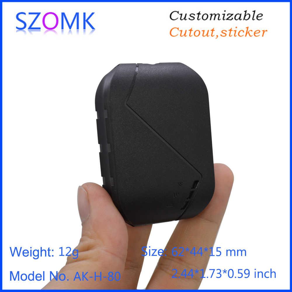 10 個 62*44*15 ミリメートル高品質プラスチック GPS トラッカー電子機器筐体デバイスボックス szomk 新デザインプラスチック計器ハウジング