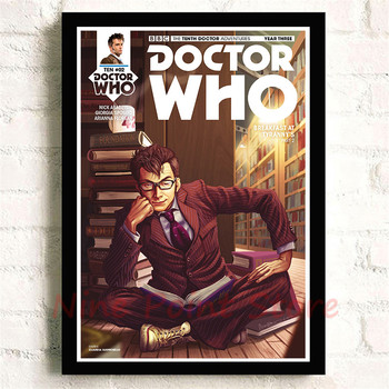 Doctor Who 10th Doctor in Library Poster 1