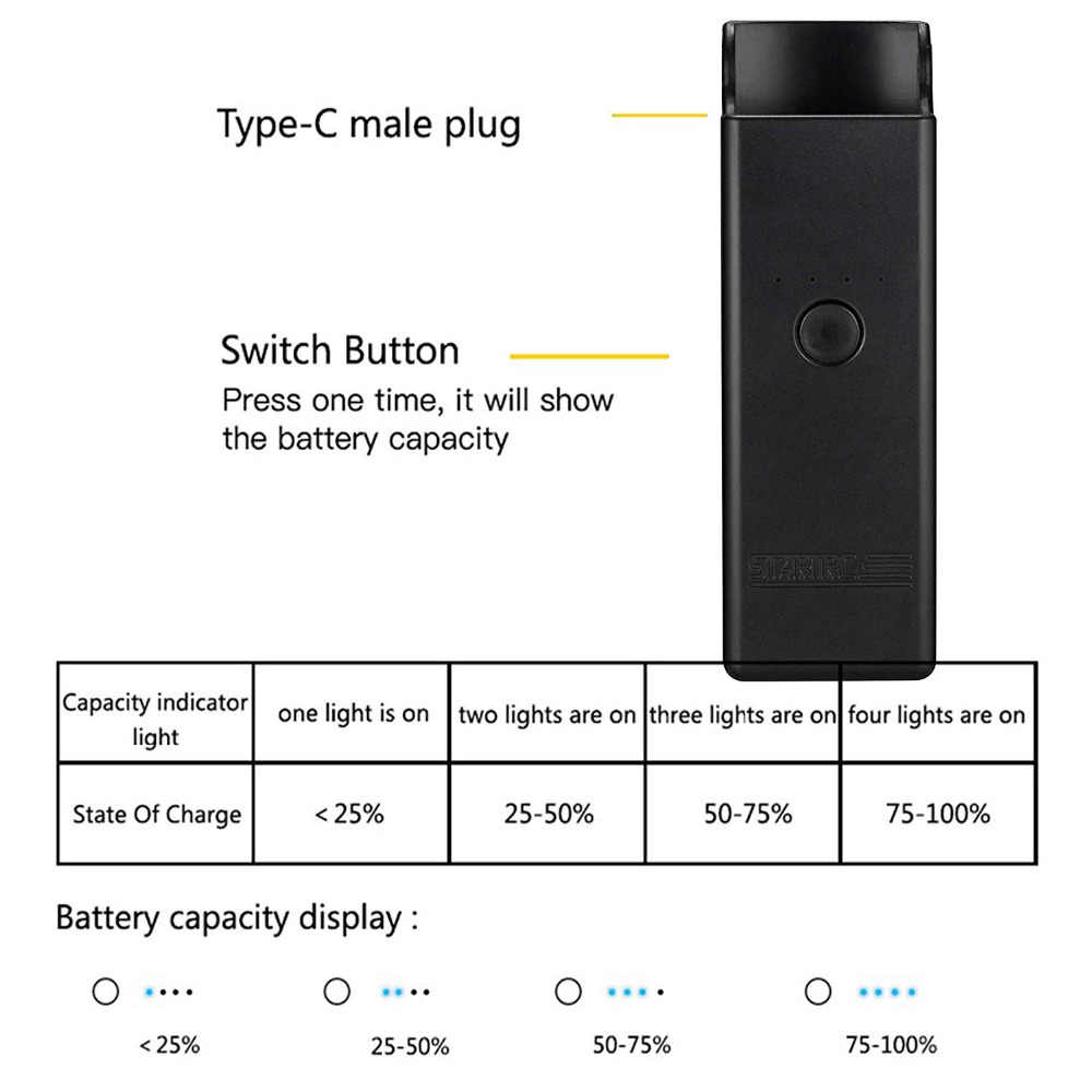 OSMO, estuche de carga de bolsillo, carga rápida, portátil OSMO, cargador de bolsillo, Banco de energía para DJI OSMO, accesorios de bolsillo